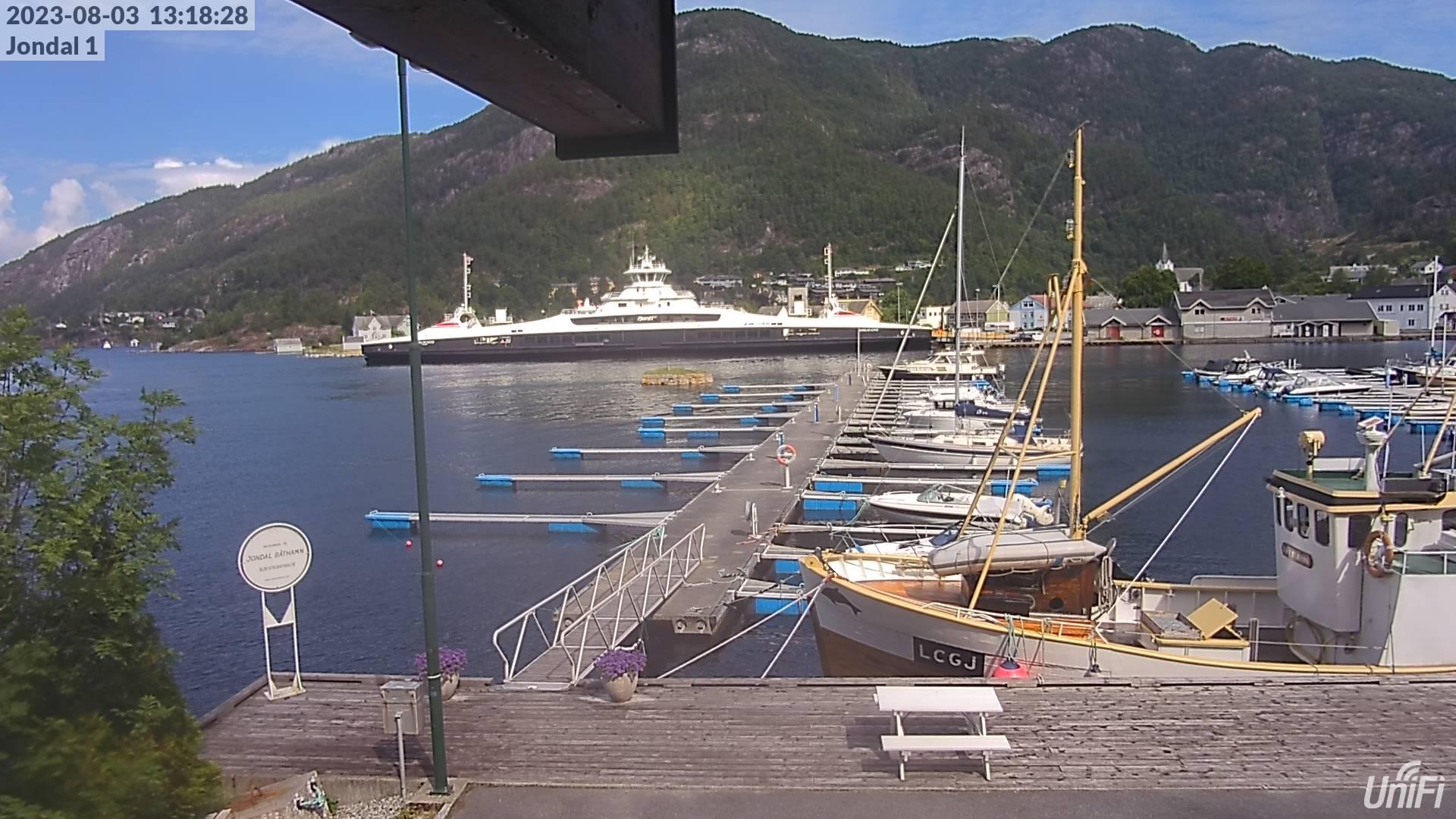 Webcam Jondal, Jondal, Hordaland, Norwegen
